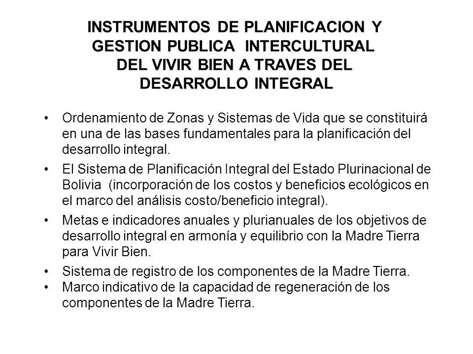 INSTRUMENTOS DE PLANIFICACION Y GESTION PUBLICA INTERCULTURAL