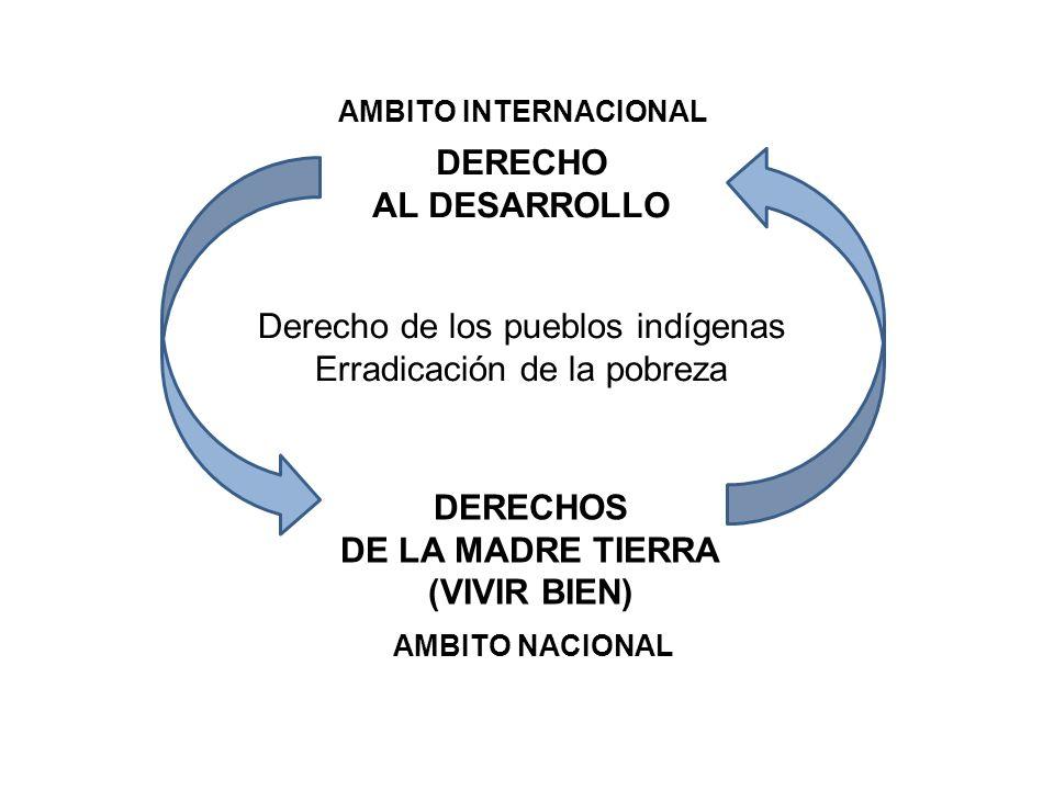 DERECHO AL DESARROLLO DERECHOS DE LA MADRE TIERRA (VIVIR BIEN)