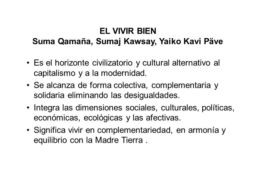 Suma Qamaña, Sumaj Kawsay, Yaiko Kavi Päve