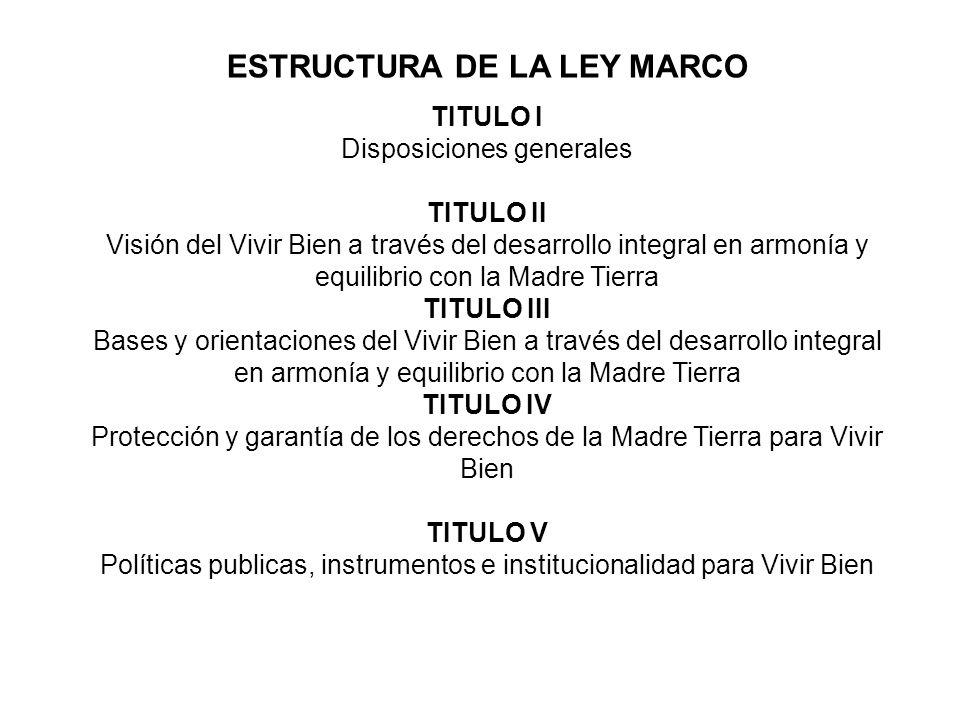 ESTRUCTURA DE LA LEY MARCO