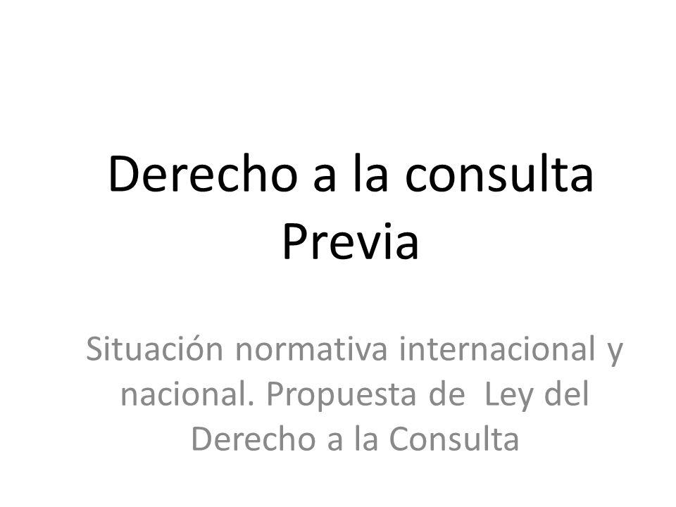 Derecho a la consulta Previa