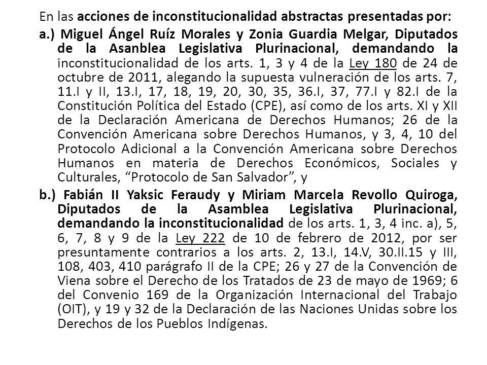 En las acciones de inconstitucionalidad abstractas presentadas por: