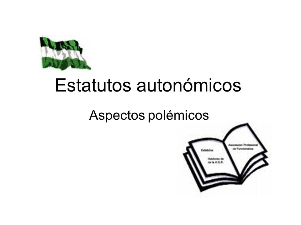 Estatutos autonómicos