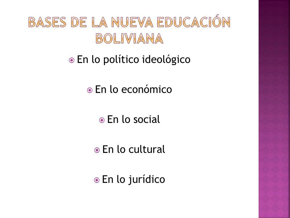 Bases de la nueva educación boliviana
