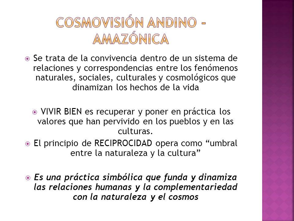 Cosmovisión andino - amazónica