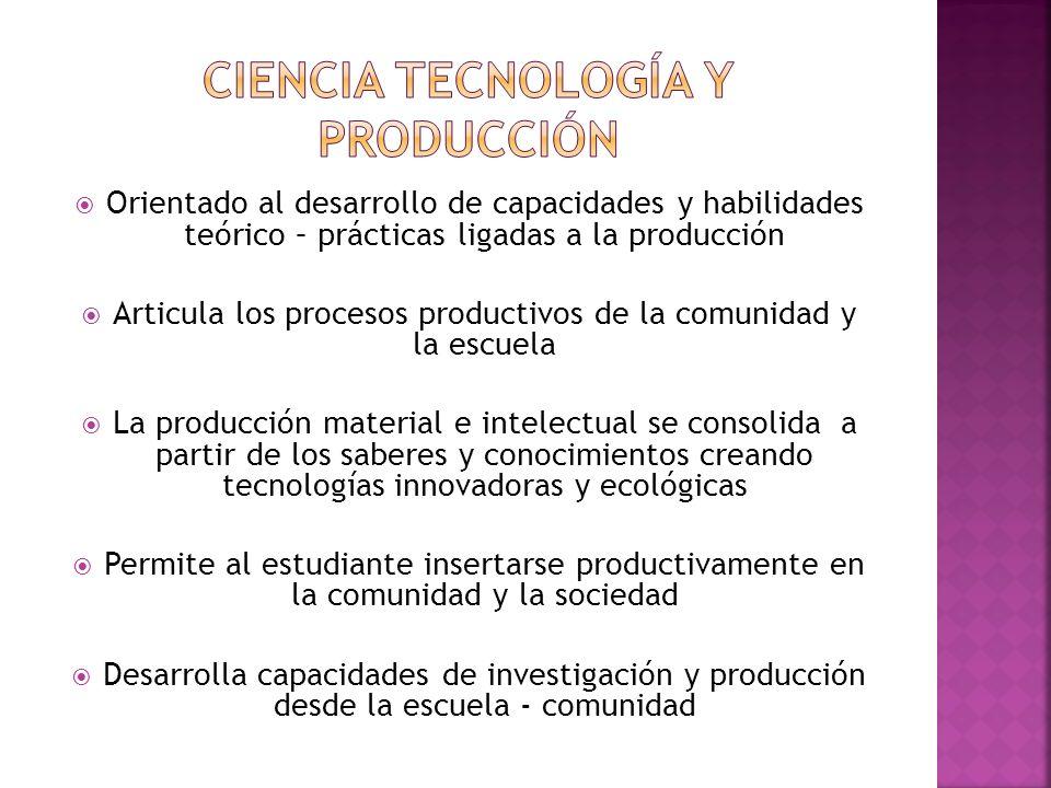 Ciencia tecnología y producción