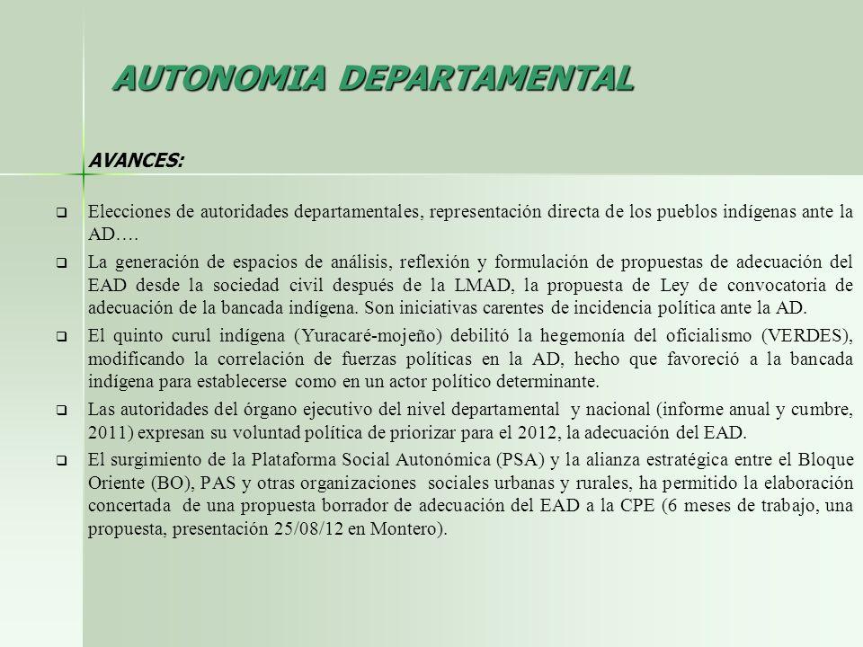 AUTONOMIA DEPARTAMENTAL
