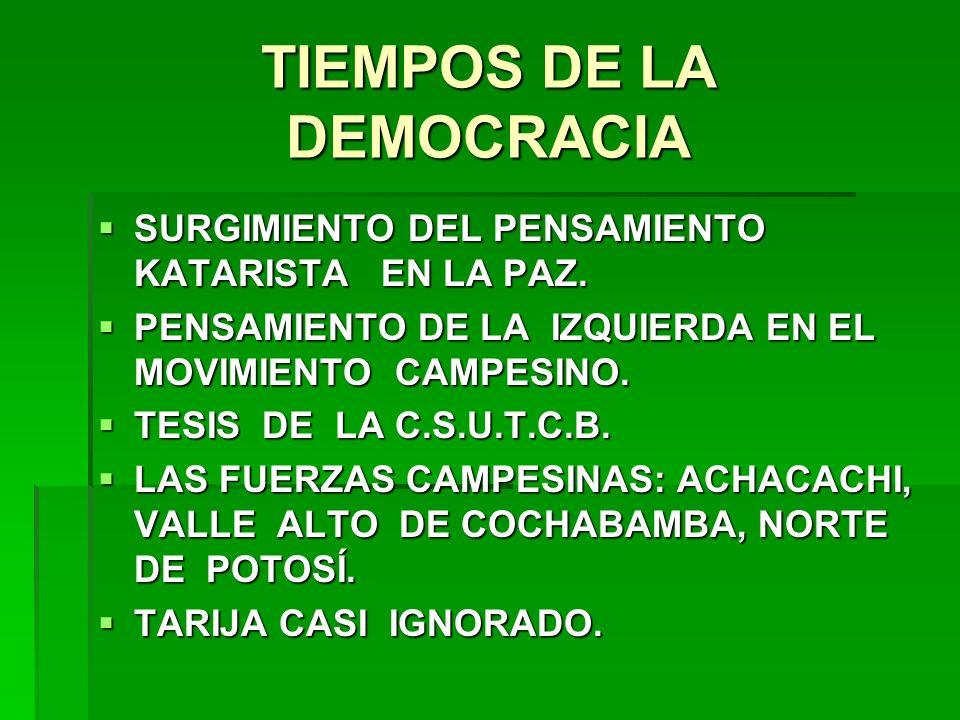 TIEMPOS DE LA DEMOCRACIA