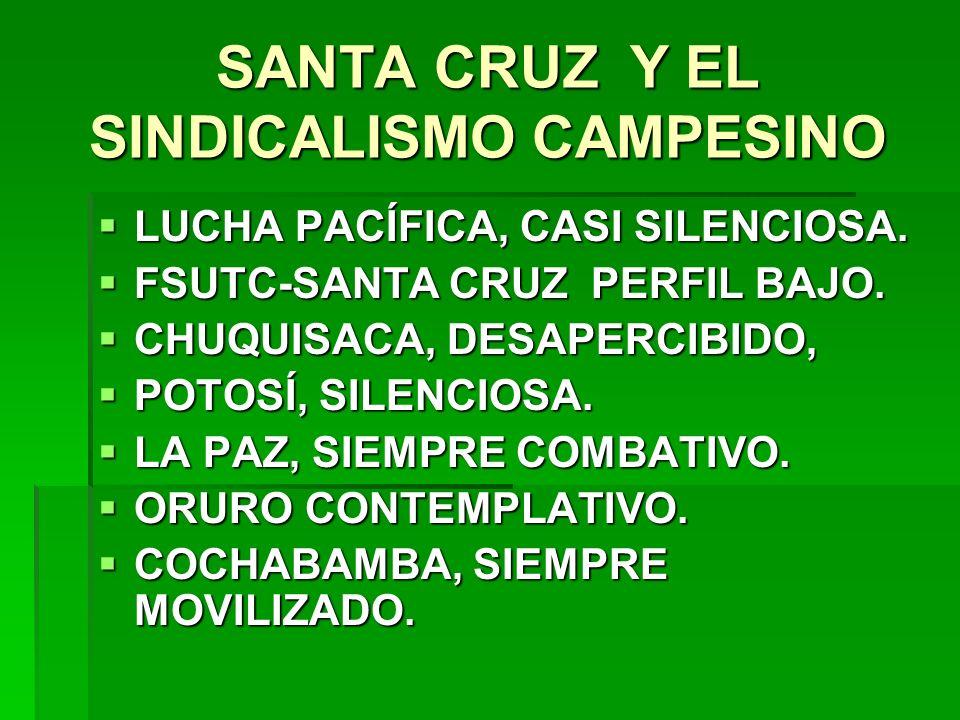 SANTA CRUZ Y EL SINDICALISMO CAMPESINO