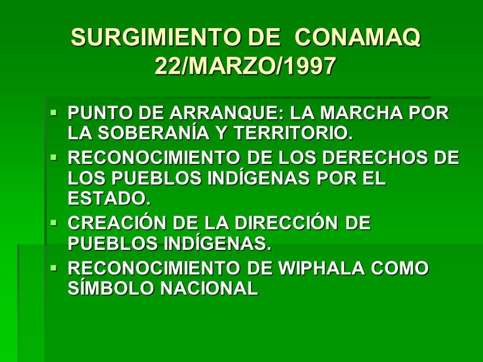 SURGIMIENTO DE CONAMAQ 22/MARZO/1997