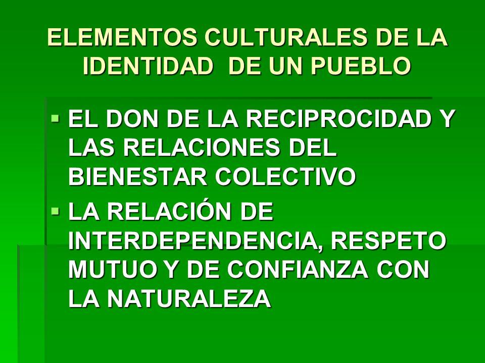 ELEMENTOS CULTURALES DE LA IDENTIDAD DE UN PUEBLO