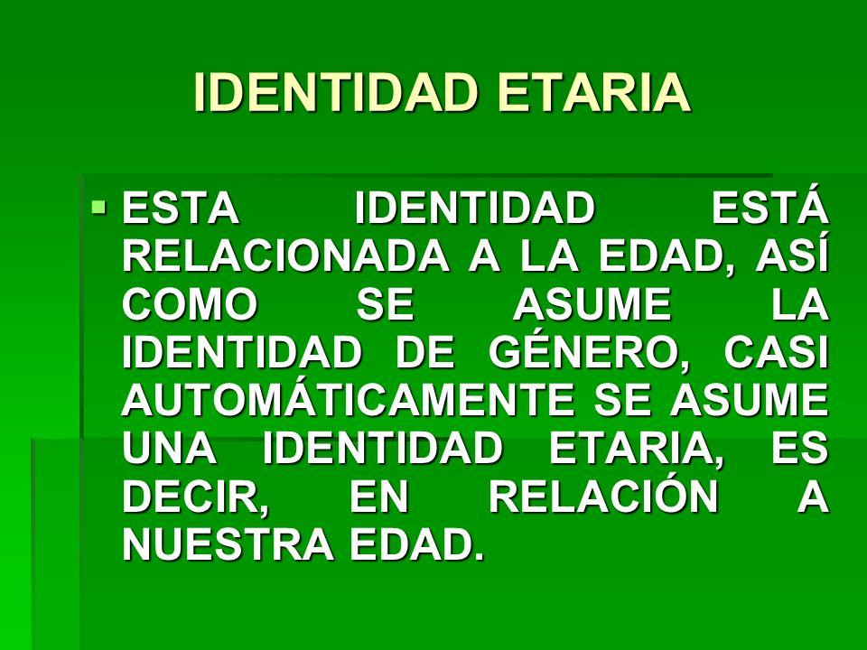 IDENTIDAD ETARIA