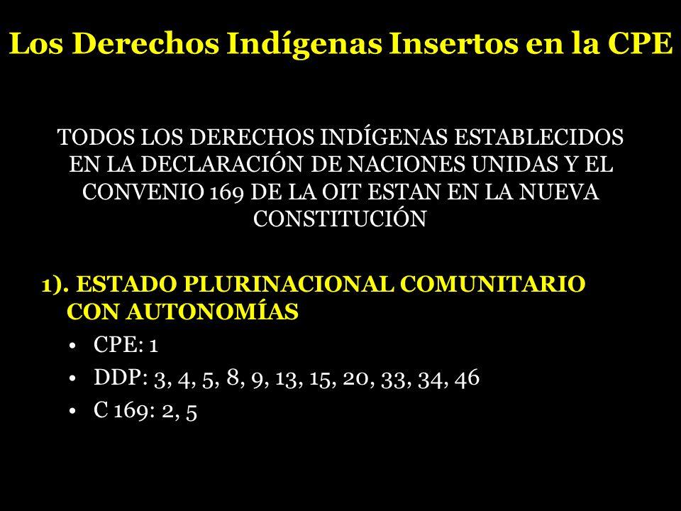 Los Derechos Indígenas Insertos en la CPE