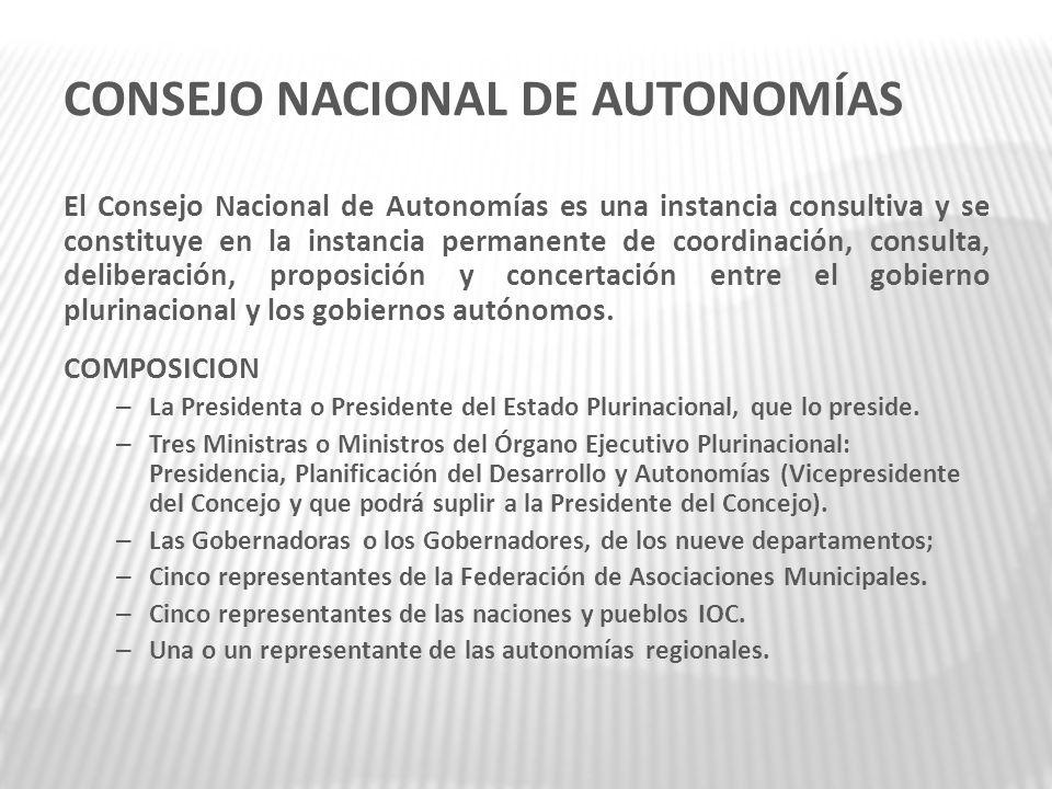 CONSEJO NACIONAL DE AUTONOMÍAS