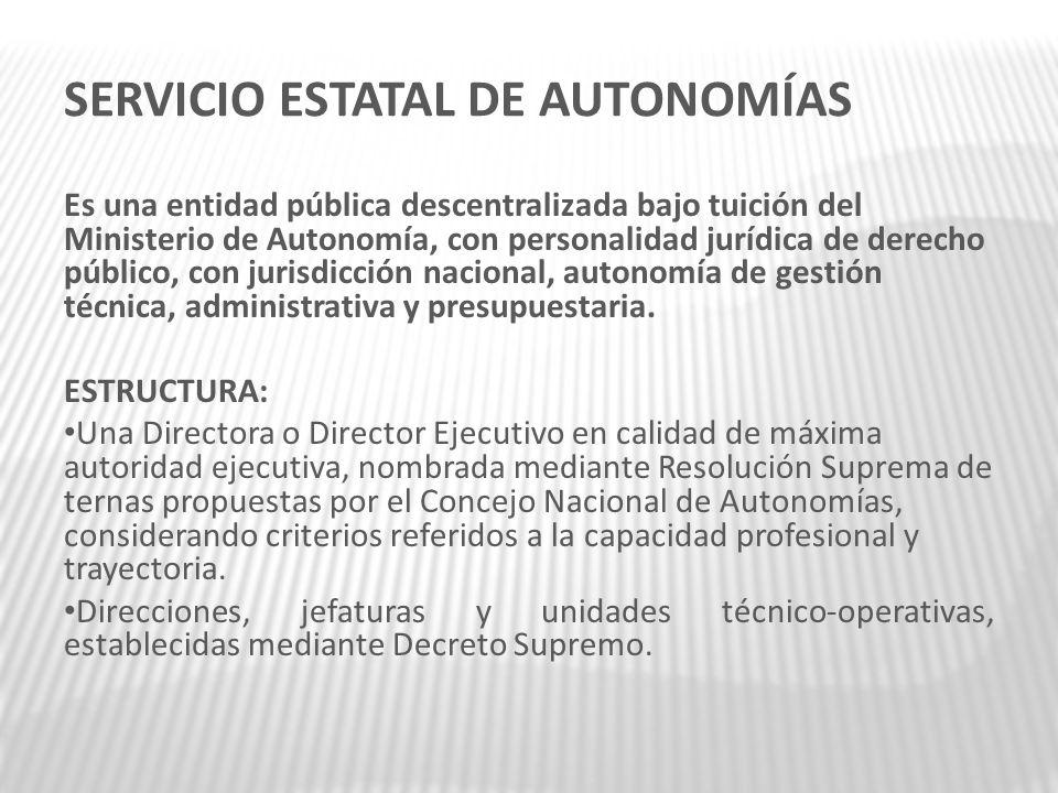 SERVICIO ESTATAL DE AUTONOMÍAS