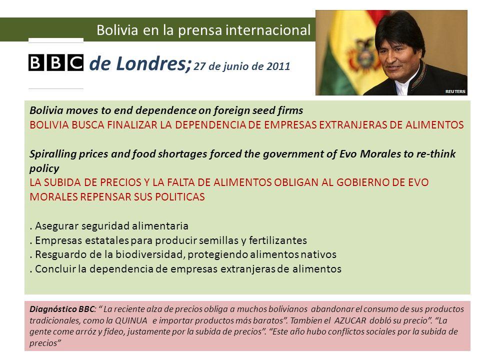 BBC de Londres; 27 de junio de 2011