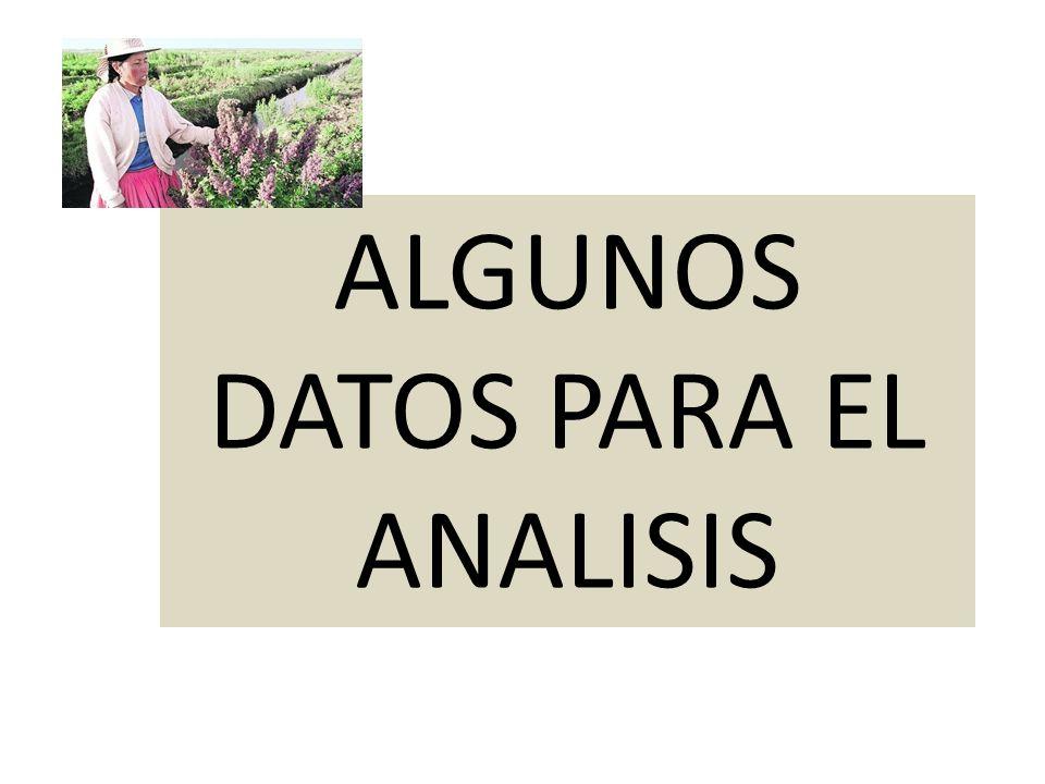 ALGUNOS DATOS PARA EL ANALISIS