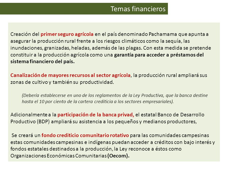 Temas financieros