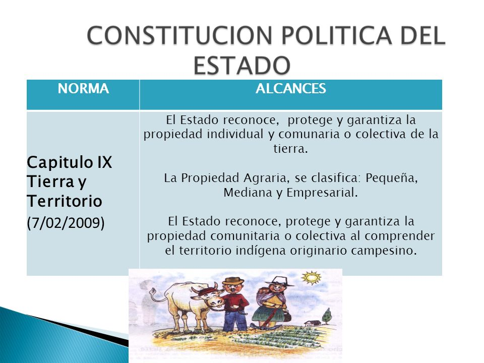 La Propiedad Agraria, se clasifica: Pequeña, Mediana y Empresarial.