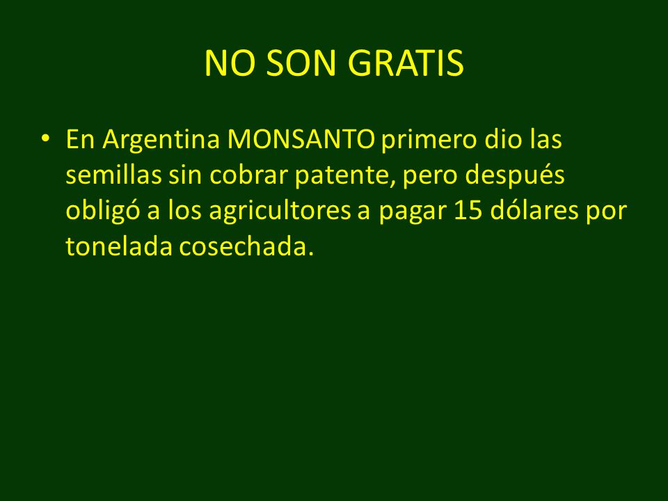 NO SON GRATIS