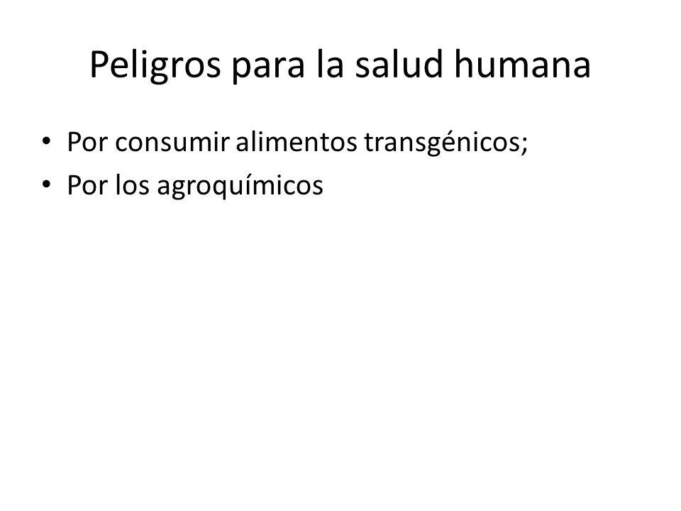 Peligros para la salud humana