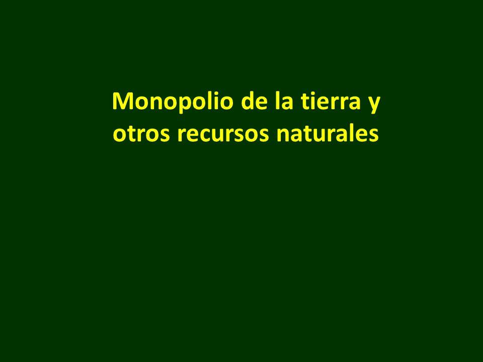 Monopolio de la tierra y otros recursos naturales
