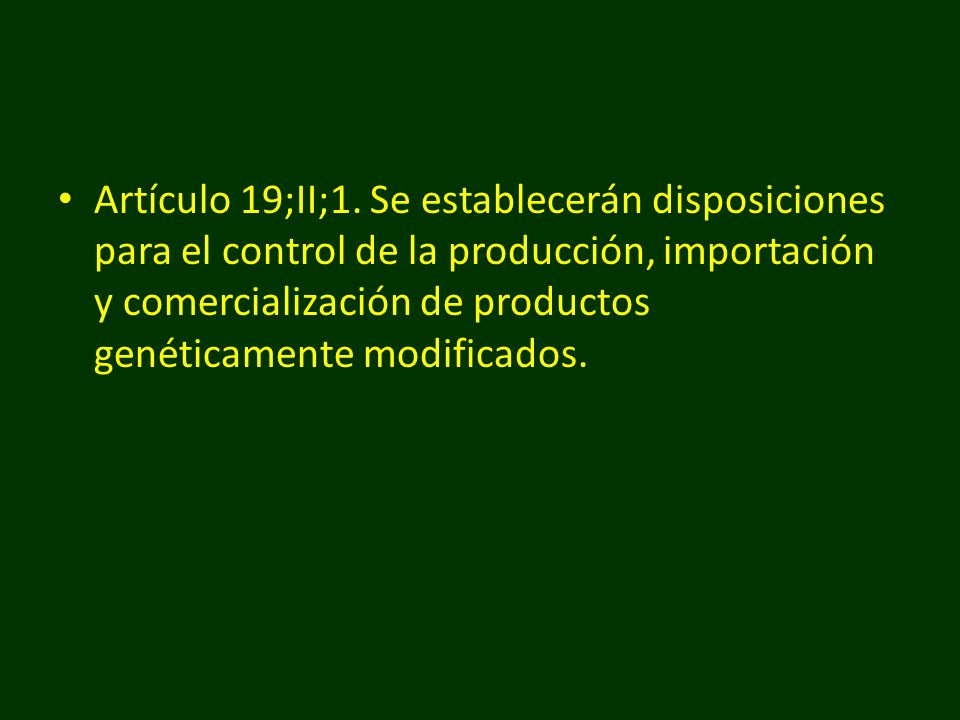 Artículo 19;II;1.