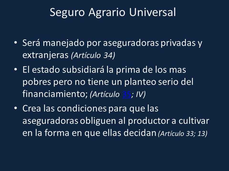Seguro Agrario Universal