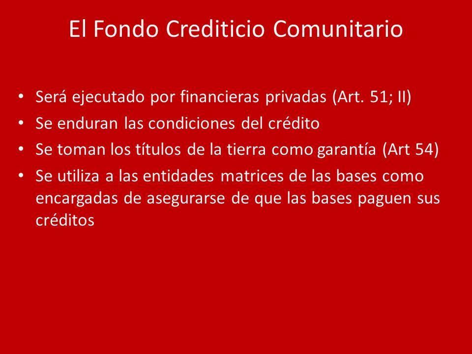 El Fondo Crediticio Comunitario