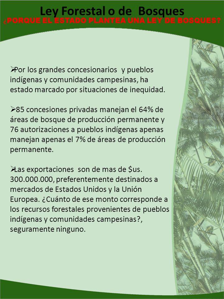 Ley Forestal o de Bosques ¿PORQUE EL ESTADO PLANTEA UNA LEY DE BOSQUES