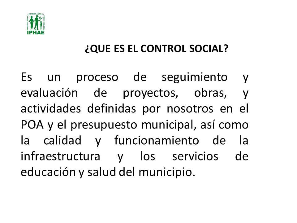 ¿QUE ES EL CONTROL SOCIAL