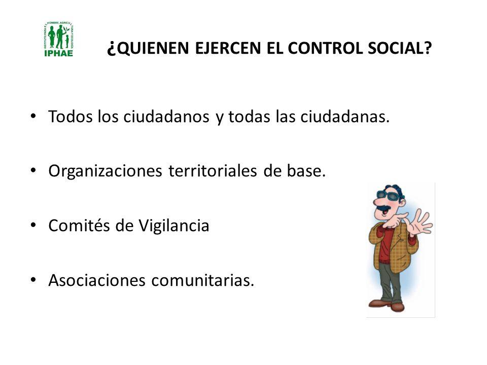 ¿QUIENEN EJERCEN EL CONTROL SOCIAL