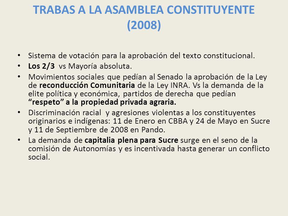 TRABAS A LA ASAMBLEA CONSTITUYENTE (2008)
