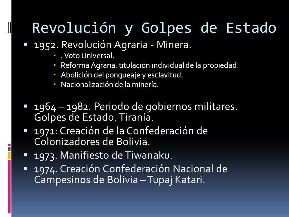 Revolución y Golpes de Estado