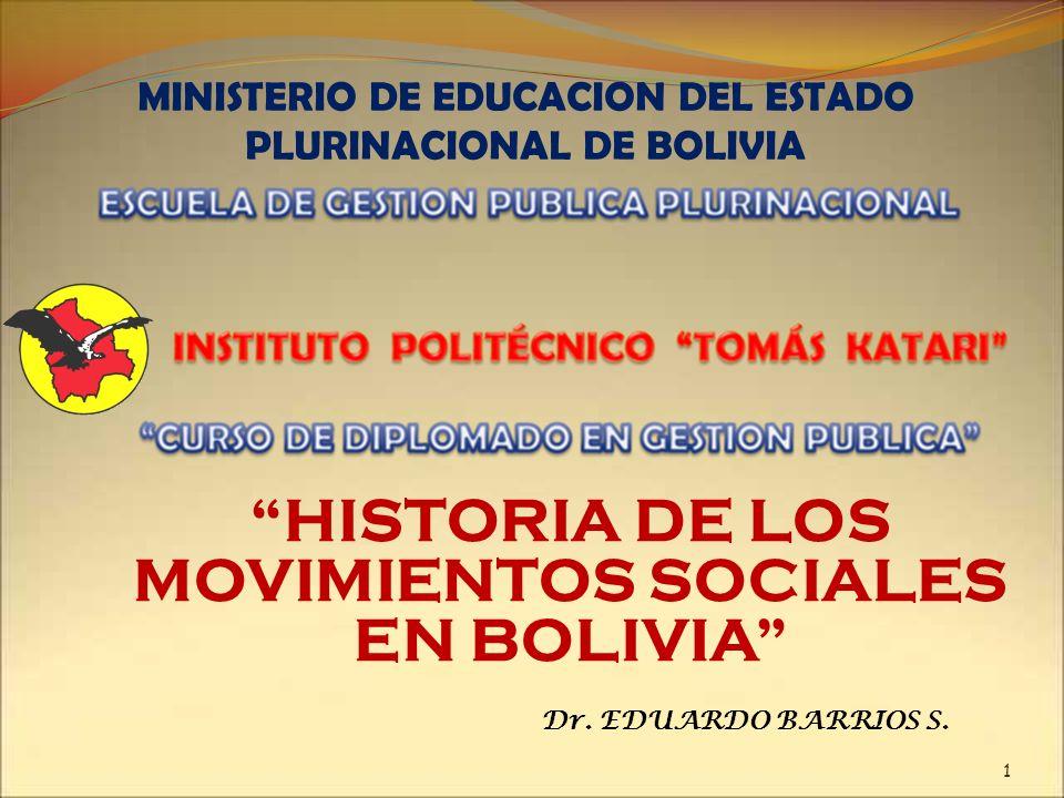 HISTORIA DE LOS MOVIMIENTOS SOCIALES EN BOLIVIA