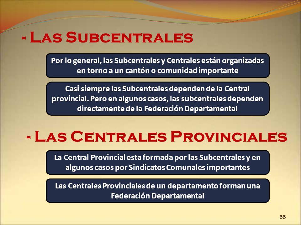 - Las Centrales Provinciales