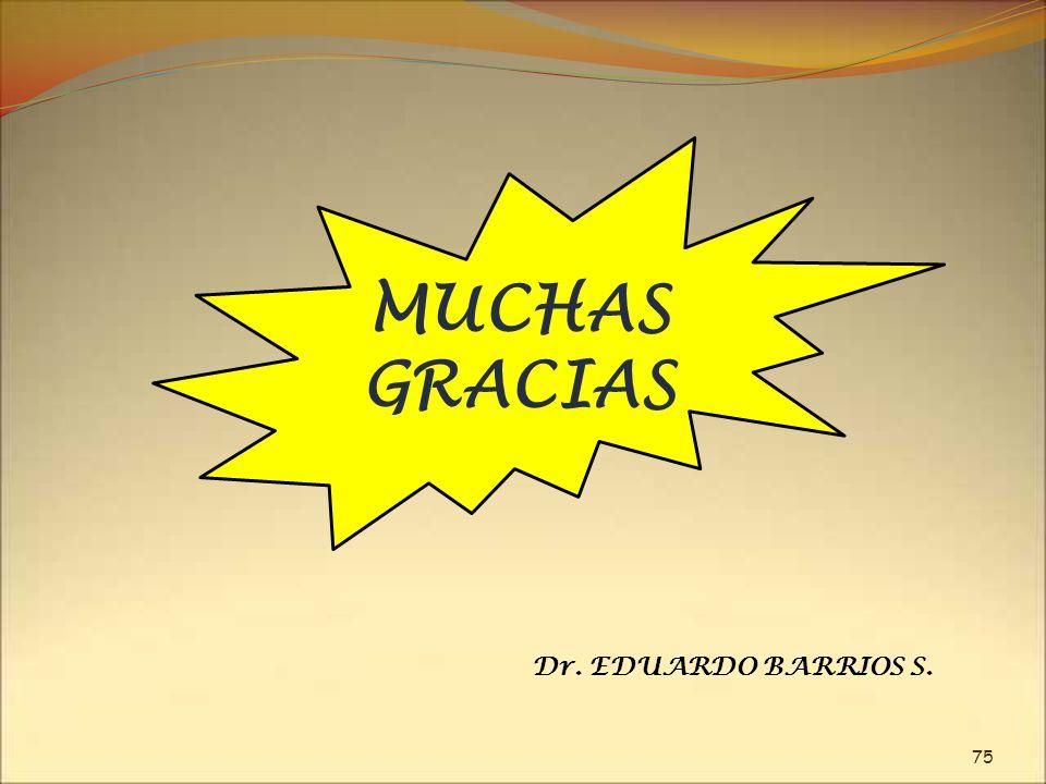 MUCHAS GRACIAS Dr. EDUARDO BARRIOS S.