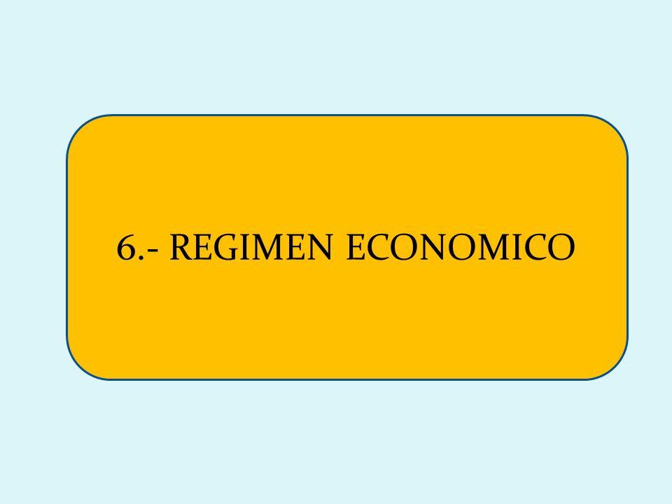 6.- REGIMEN ECONOMICO