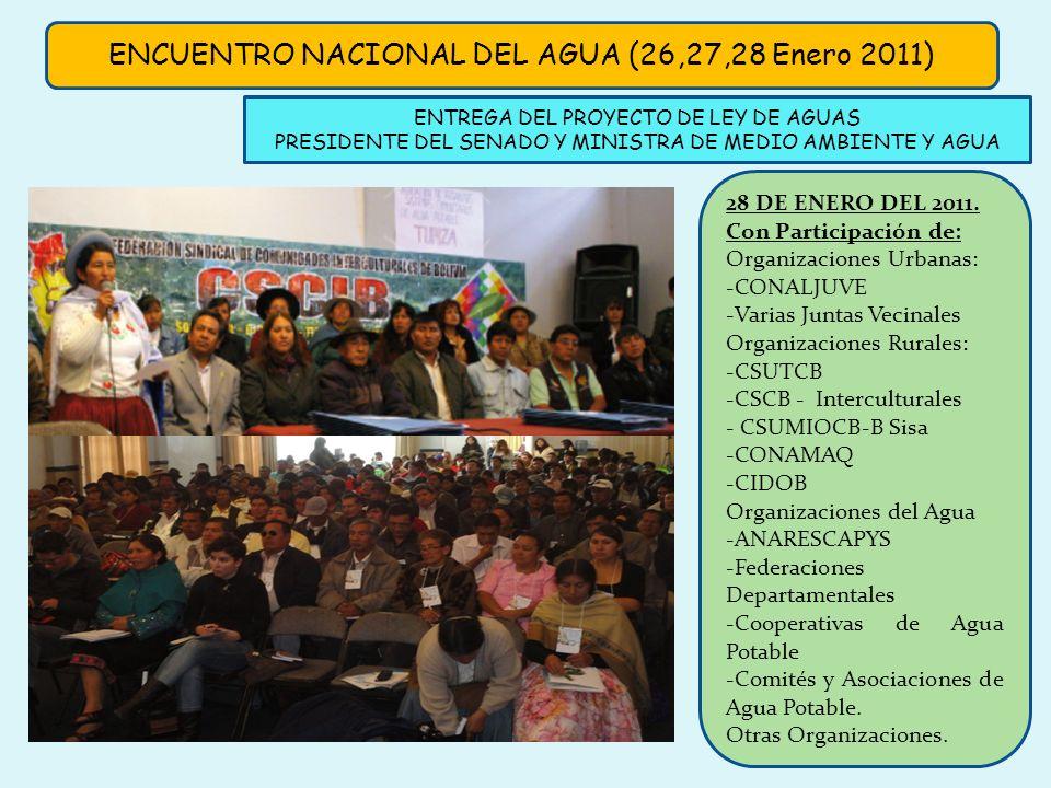ENCUENTRO NACIONAL DEL AGUA (26,27,28 Enero 2011)