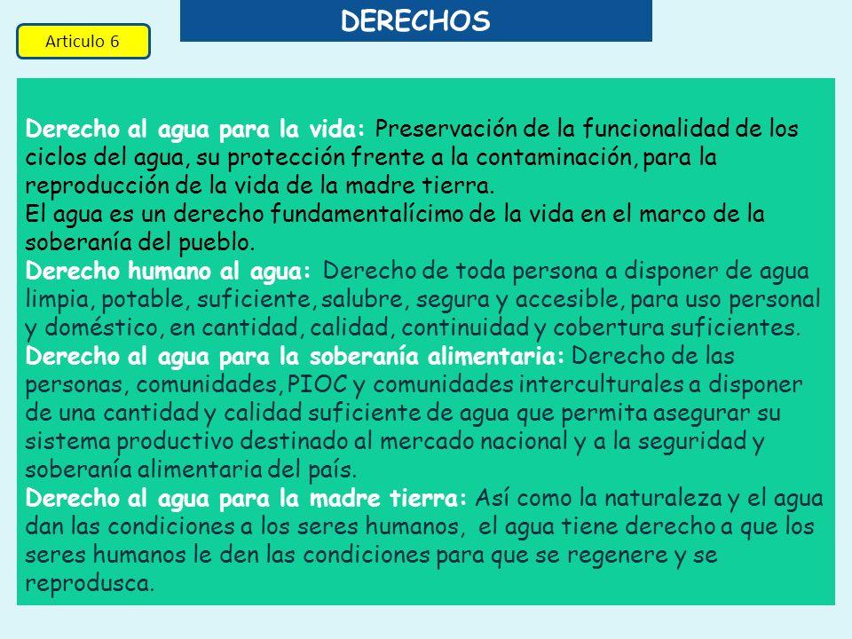 DERECHOS Articulo 6.