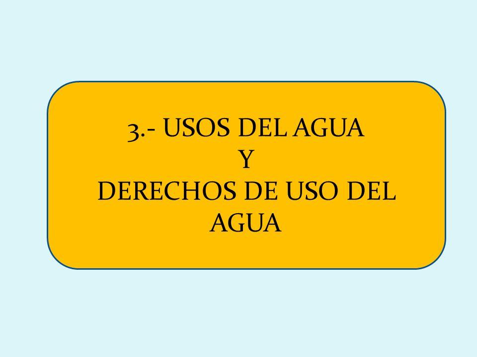 DERECHOS DE USO DEL AGUA