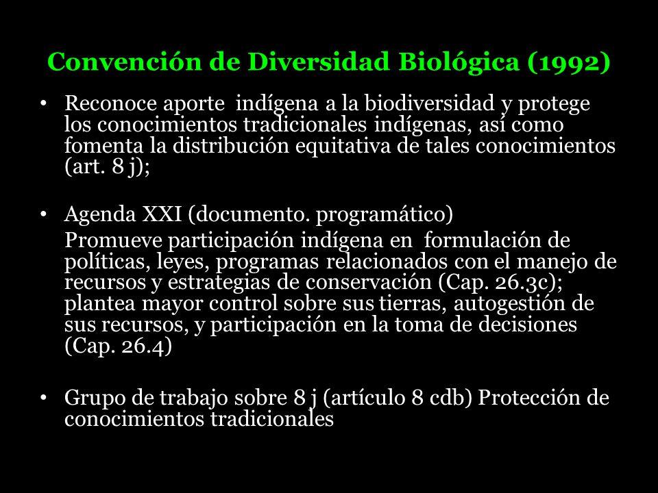 Convención de Diversidad Biológica (1992)