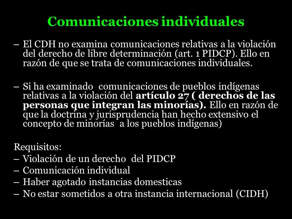 Comunicaciones individuales