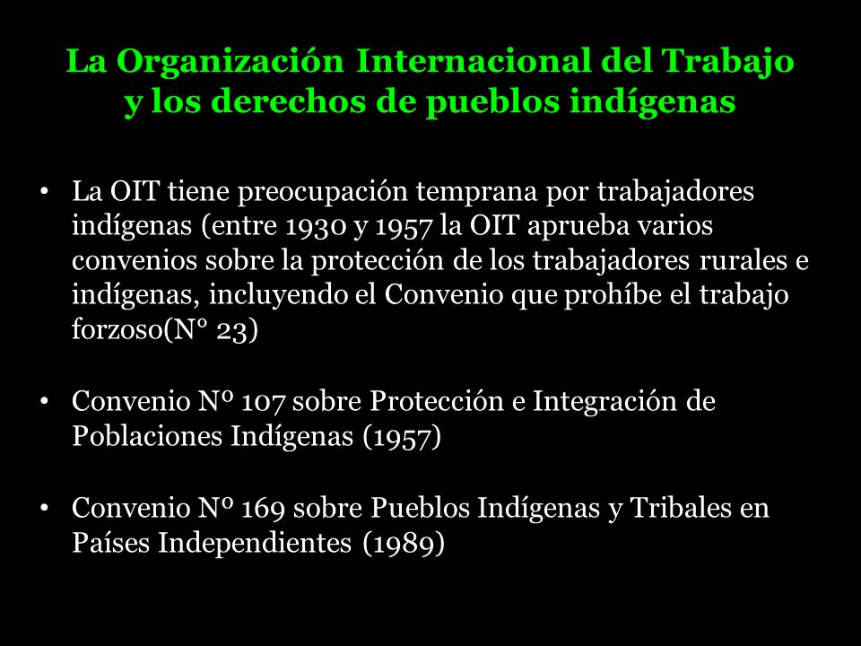 La Organización Internacional del Trabajo y los derechos de pueblos indígenas
