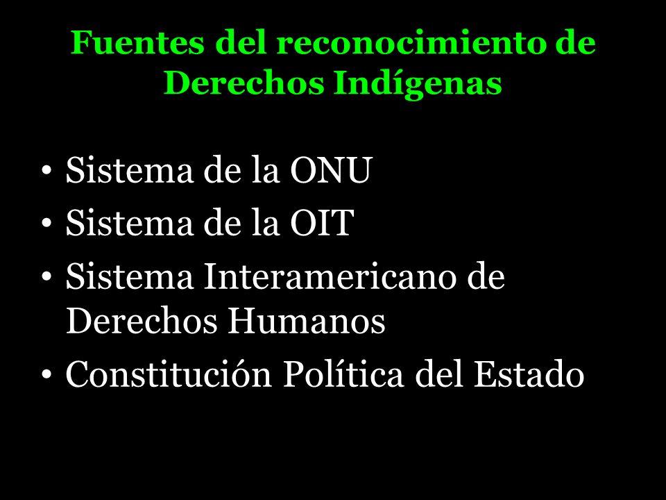 Fuentes del reconocimiento de Derechos Indígenas
