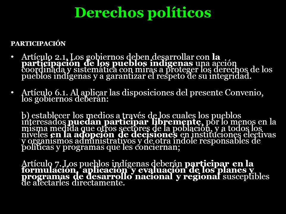 Derechos políticosPARTICIPACIÓN.