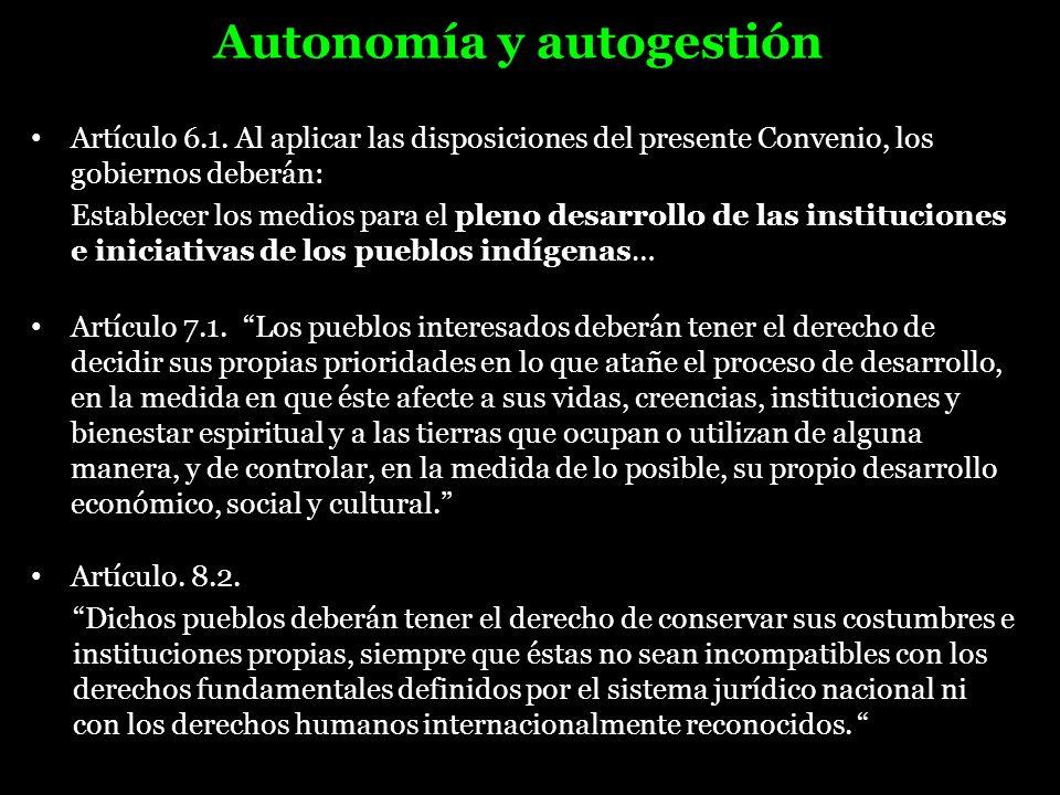 Autonomía y autogestión
