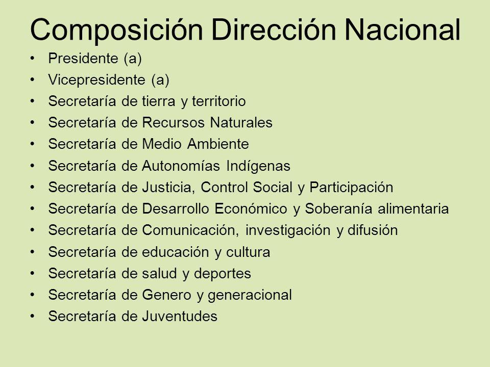 Composición Dirección Nacional