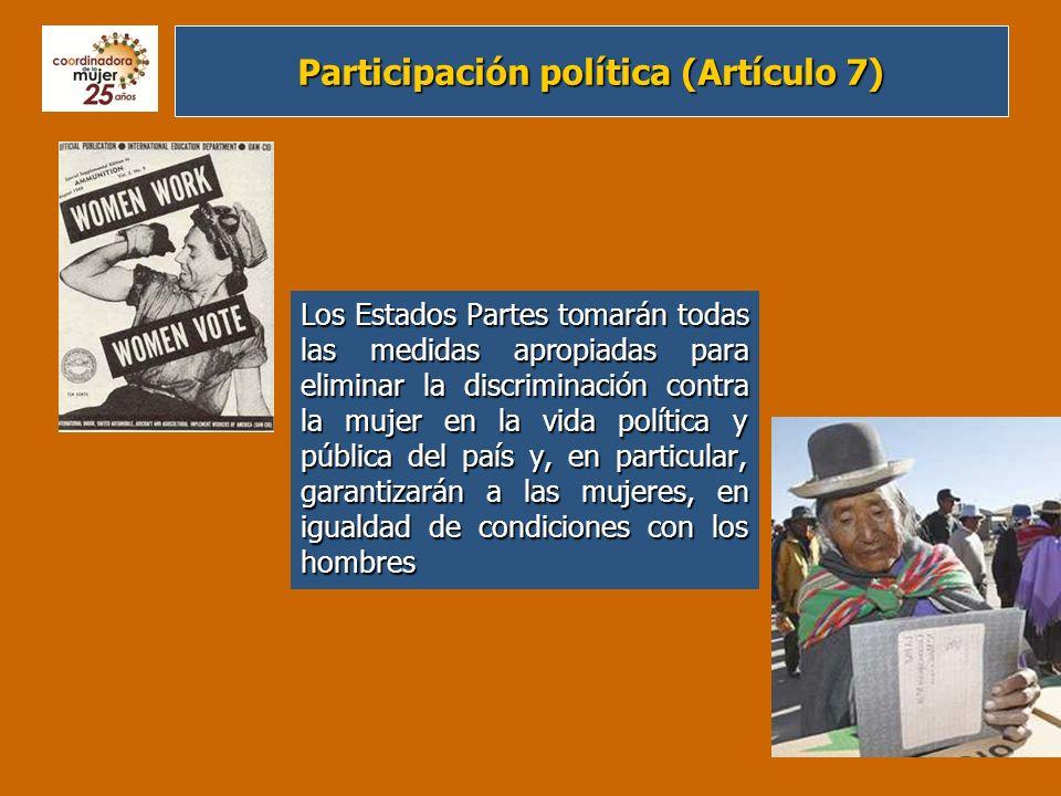 Participación política (Artículo 7)