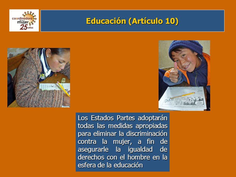 Educación (Artículo 10)